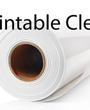 graphic about Clear Printable Paper known as Printable Crystal clear Vinyl Detachable Vinyl Rolls Very clear